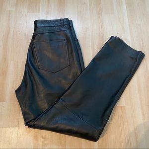 Wilson's black leather pants